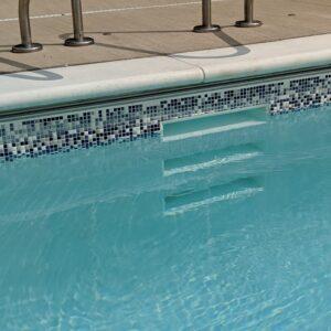 Central Park West Waterline Tile Pool