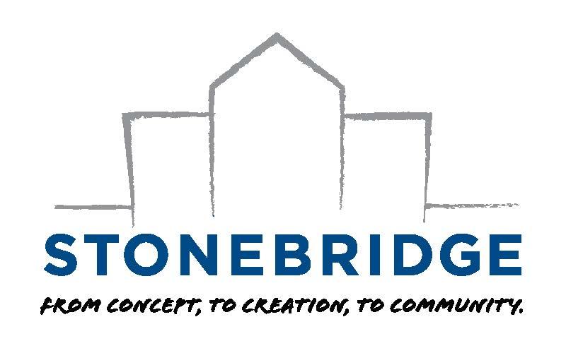 Stonebridge tagline logo_blue_gray_black